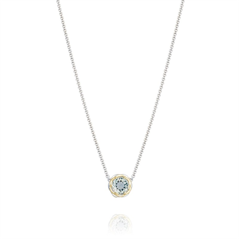 Tacori Color Medley Collection | Sterling Silver & 18K Yellow Gold Prasiolite Necklace | Style No. 001-761-01091 SN204Y12