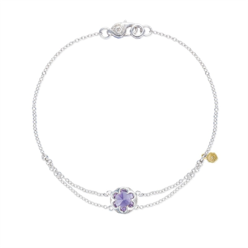 Tacori Sonoma Skies Collection | Sterling Silver Amethyst Split Chain Bracelet | Style No. 001-761-01119 SB20001