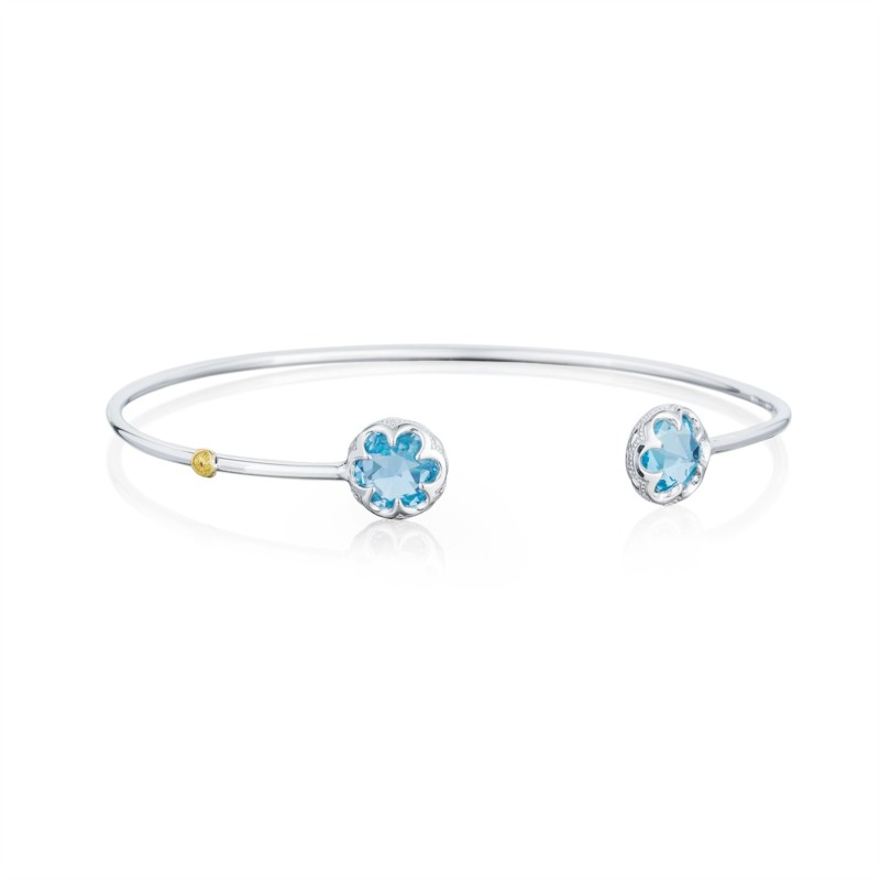 Tacori Sonoma Skies Collection | Sterling Silver Sky Blue Topaz Bezel Cuff Bracelet | Style No. 001-761-01124 SB20102-M