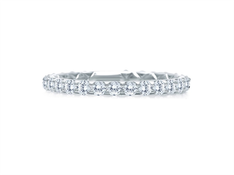 A. JAFFE Diamond Ring | 18K White Gold Pavéé Eternity Diamond Ring | Style No. 001-785-00750