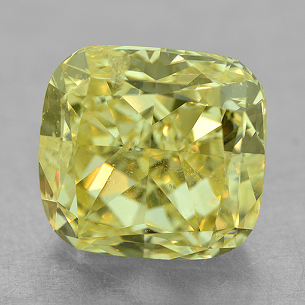 Loose Sapphires and Gemstones - 6.36 Ct. SI2 Cushion Fancy Yellow Diamond