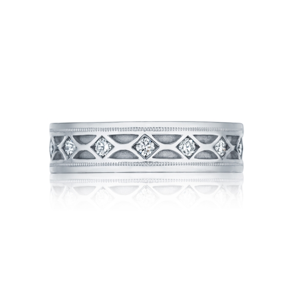 Tacori Sculpted Crescent Collection | White Gold Men's Eternity Band | Style No. 001-760-03012