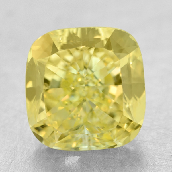 Loose Sapphires and Gemstones - 3.30 Ct. SI2 Cushion Yellow Diamond