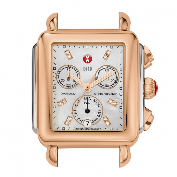 Michele Signature Deco Collection | Rose Gold Plated Watch with Mother of Pearl Dial | Style No. 001-608-03202