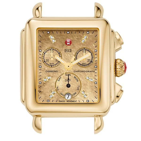 Michele Deco Collection | Yellow Gold Watch with Gold Metallic Dial | Style No. 001-608-03438