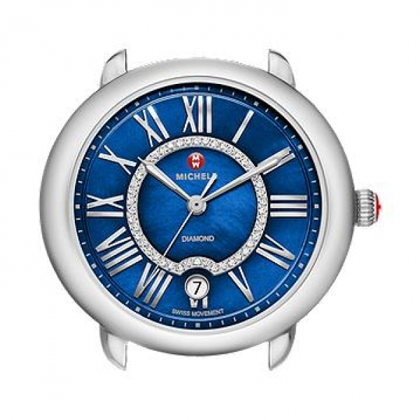 Michele Serein 16 Collection | Chrome Watch with Blue Mother of Pearl | Style No. 001-608-03534