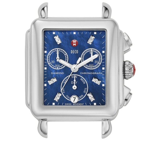 Michele Deco Collection | Stainless Steel Watch with Blue Mother of Pearl | Style No. 001-608-02503