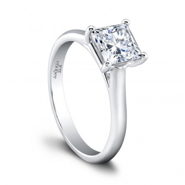 Jeff Cooper | Round Platinum Solitaire Engagement Ring | Style No. 001-730-01201 R3320/RDCZ