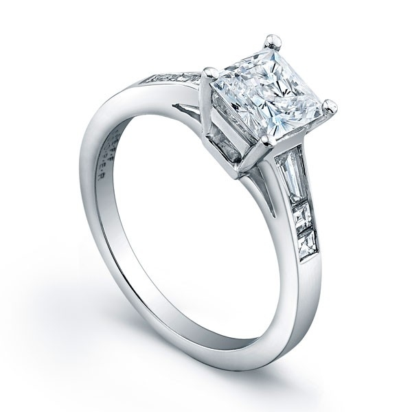 Jeff Cooper Designs | Platinum Engagement Ring San Francisco | Style No. 001-730-00521 R3100/P