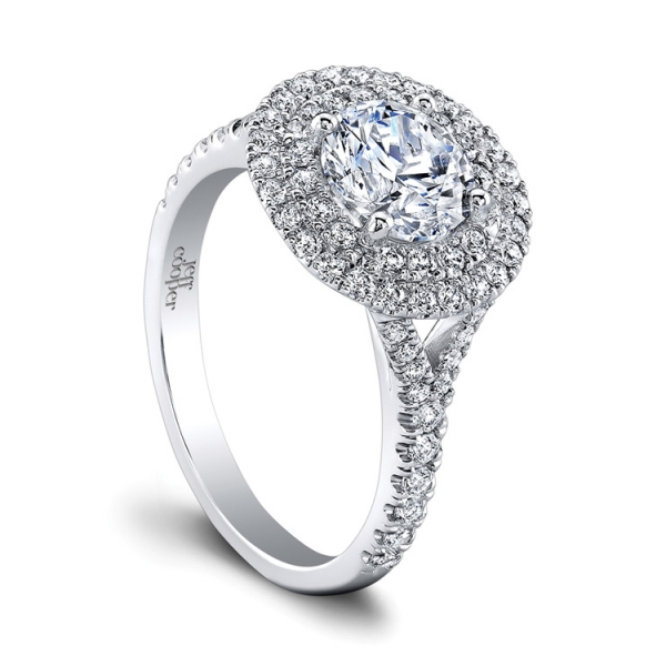 Jeff Cooper | Double Diamond Halo Engagement Ring | Style No. 001-730-01239 RP1627/R6.5C14