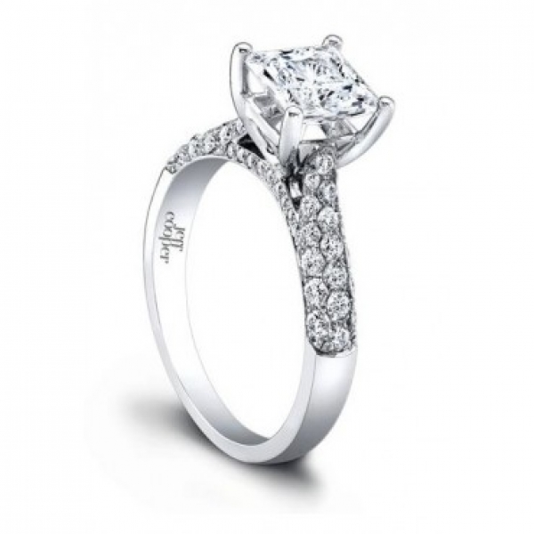 Pavé Diamond Engagement Ring Setting | Jeff Cooper | Style No. 001-730-01027 RP1501/6