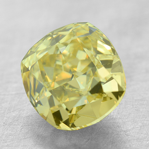 Loose Sapphires and Gemstones - 2.03 Ct. VS2 Cushion Fancy Yellow Diamond