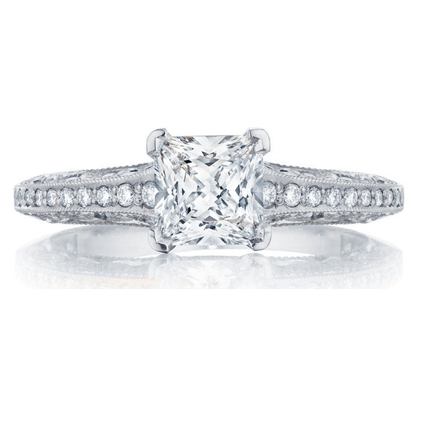 Tacori Classic Crescent Detailed Engagement Ring 2616PR5.5W