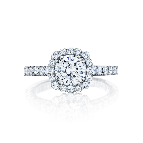 Tacori Full Bloom Halo Engagement Ring Setting 37-2CU6W - Tacori