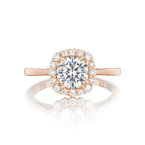 Simply Tacori Round Engagement Ring 55-2CU6W