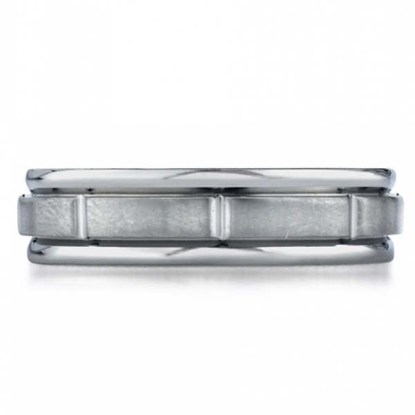 Benchmark | 14K White Gold 6mm Men's Wedding Ring | Style No. 001-709-00234 RECF76452
