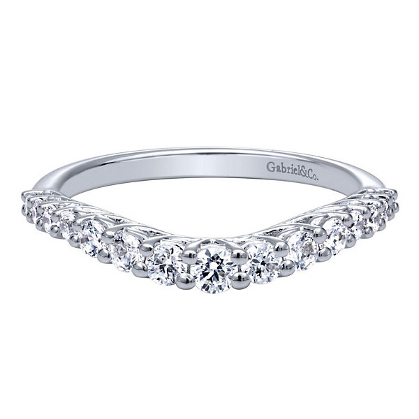 Gabriel & Co. | 14K White Gold Contoured Diamond Ring | Style No. 001-652-00490