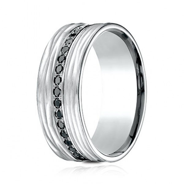 Ammara Stone | 14K White Gold 9mm Black Diamond Eternity Ring | Style No. 001-709-01795 CF489692
