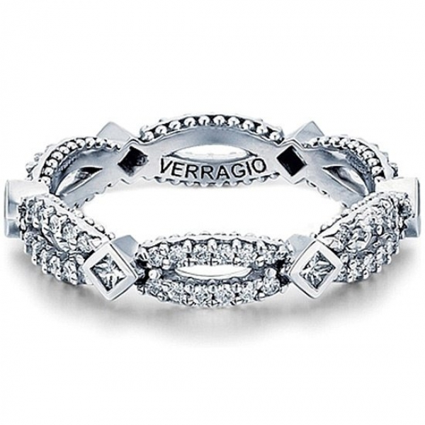 Verragio eternity bezel set diamond wedding band