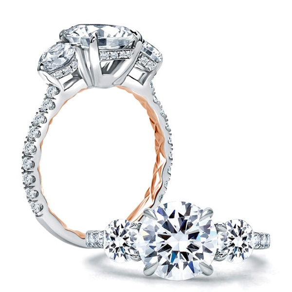 Three Stone - A. JAFFE Engagement Ring