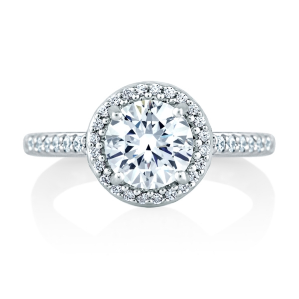 MES168Q-A.jpg A. JAFFE Halo Diamond Ring