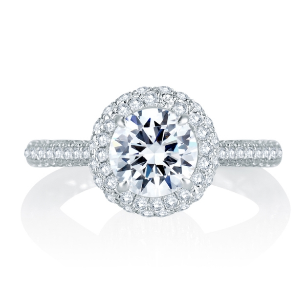 MES749Q-A.jpg A. JAFFE Halo Diamond Ring
