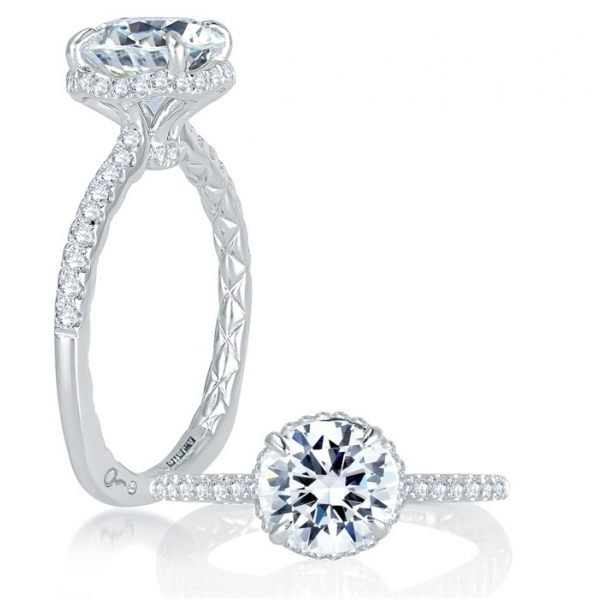 Halo - A. JAFFE Halo Diamond Ring