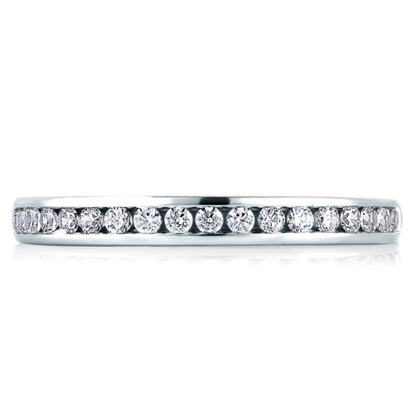 A.JAFFE | 18K White Gold Channel Set Diamond Wedding Ring | Style No. 001-785-00342