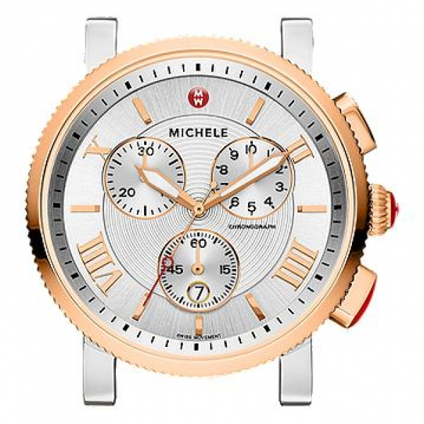Michele Sport Sail Collection | Rose Gold Plated & Chrome Watch | Style No. 001-608-03057