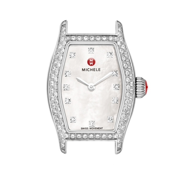 Michele Urban Coquette Collection | Chrome, Mother of Pearl & Diamond Watch | Style No. 001-608-03074