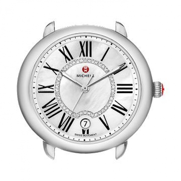 Michele Serein 16 Collection | Chrome Watch with Mother of Pearl Dial | Style No. 001-608-03061