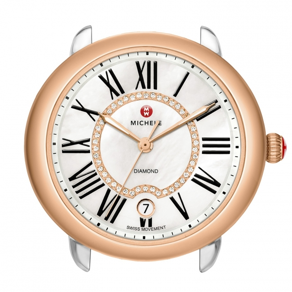 Michele Serein 16 Collection | Rose Gold Watch with Mother of Pearl Dial | Style No. 001-608-03208