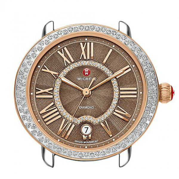 Michele Serein 16 Collection | Rose Gold Plated & Chrome Watch | Style No. 001-608-03396