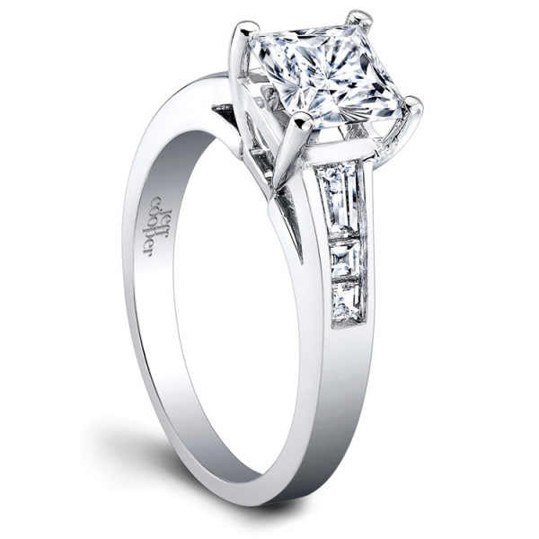 Jeff Cooper Designs | 18K White Gold Diamond Woman's Engagement Ring | Style No. 001-730-00589 R3100/PW