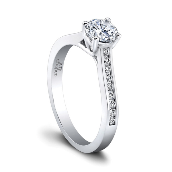 Jeff Cooper | 14K White Gold Channel Set Ring | Style No. 001-730-01213 R3322/W14