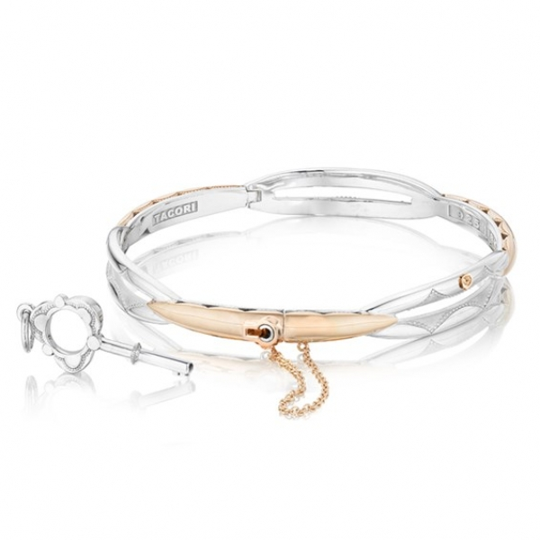 Tacori | 18K Rose Gold & Sterling Silver Promise Bangle | Style No. 001-761-00697 SB178P-L