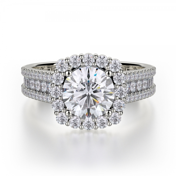 Michael M. | 18K White Gold Cushion Halo Diamond Ring | Style No. 001-550-00369