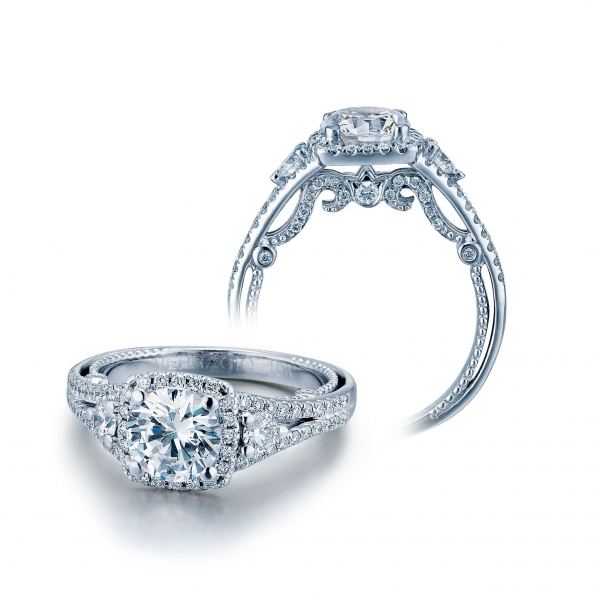 Cushion Verragio Engagement ring for her INS-7068CU-GLD