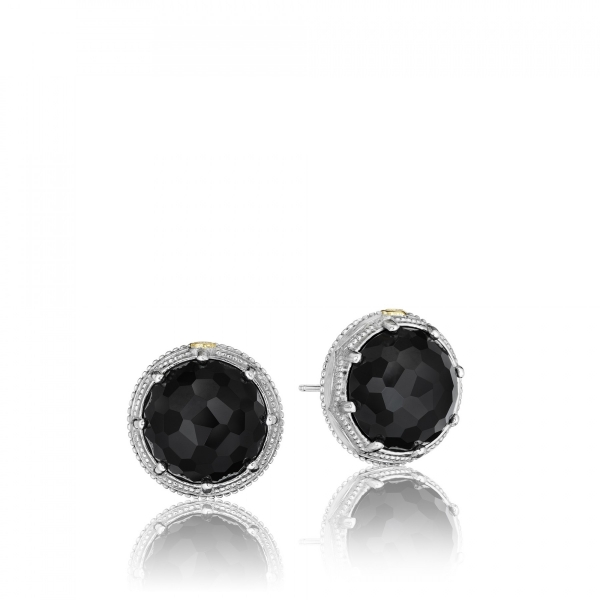 Tacori City Lights Collection | Black Onyx Milgrain Crescent Stud Earrings | Style No. 001-761-00536 SE17119