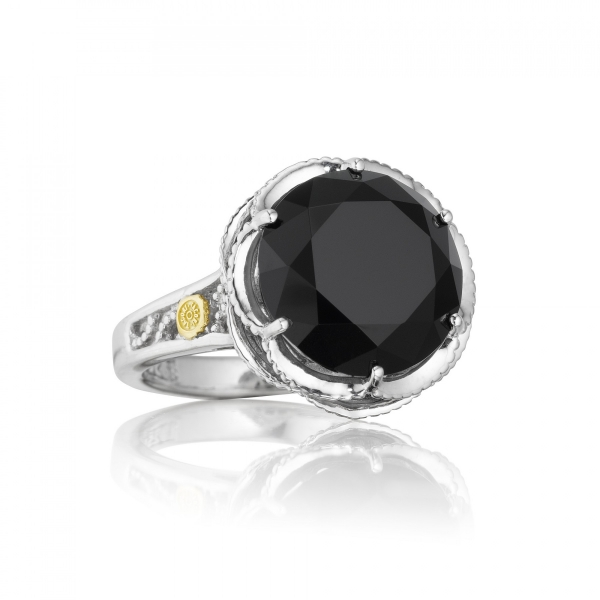 Tacori Classic Rock Collection | Black Onyx Cocktail Ring | Style No. 001-761-00537 SR12319