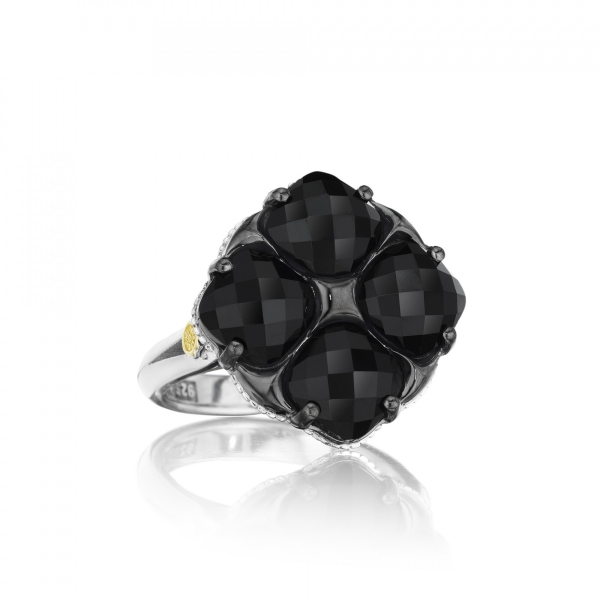 Tacori City Lights Collection | Sterling Silver Cushion Black Onyx Milgrain Ring | Style No. 001-761-00605 SR15619
