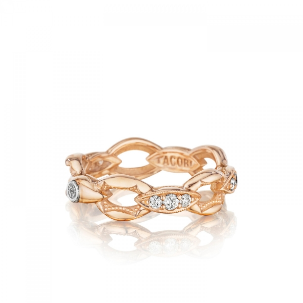 Tacori Ivy Lane Collection | Prong Set Diamond Accents & Rose Gold Ring | Style No. 001-761-00777 SR184P