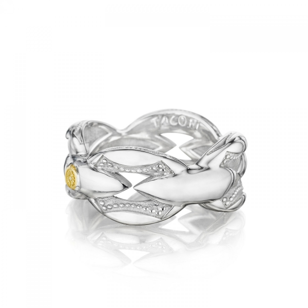 Tacori Ivy Lane Collection | Sterling Silver Crescent Link Stackable Ring | Style No. 001-761-00770 SR185