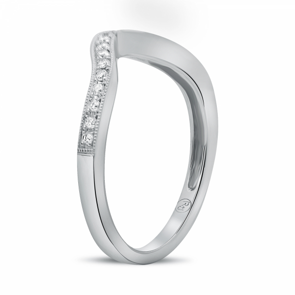 Shop our collection of women's wedding bands or custom design your own!  Eco-friendly and ethically sourced. Class - image #2