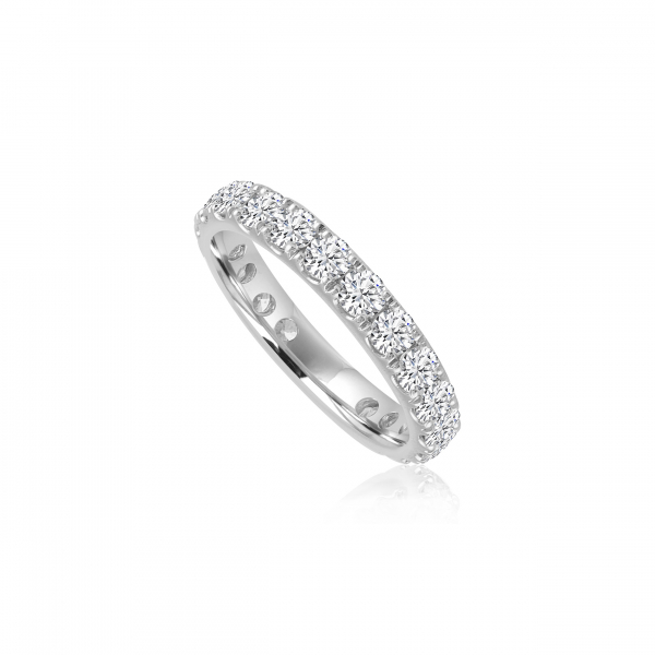 Wedding Bands For Women.Forevermark White Gold Eternity Diamond Wedding Band