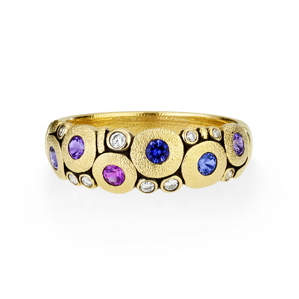 Alex Sepkus Sapphire and Diamond Candy Dome Ring