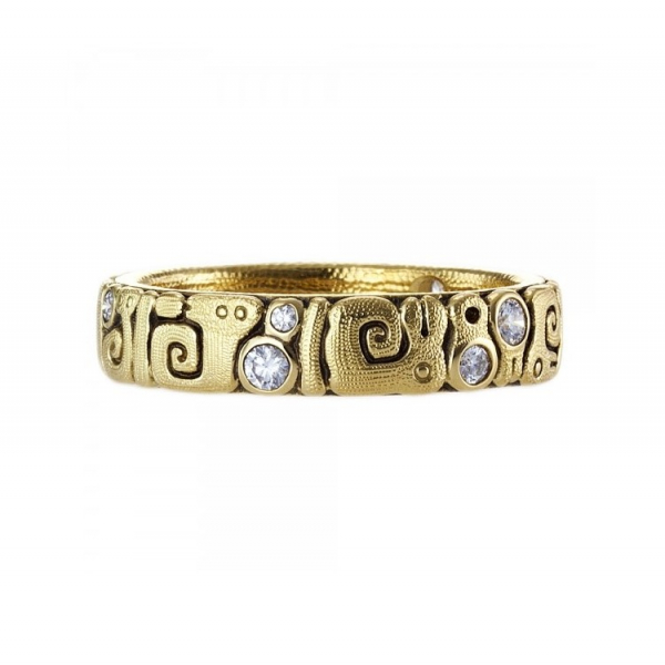 Alex Sepkus 18k Yellow Gold Sea Creatures Diamond Band