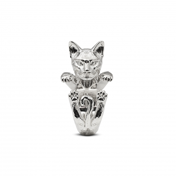 Cat Fever - Bengal Silver Hug Ring - image #2