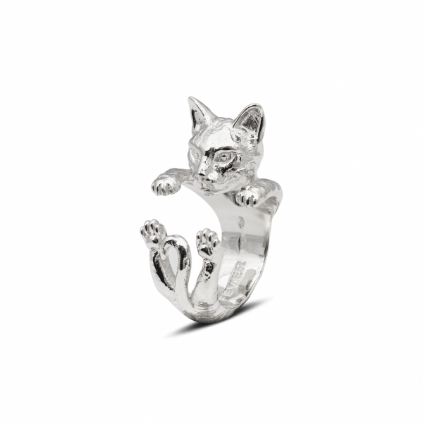 Cat Fever - Bengal Silver Hug Ring
