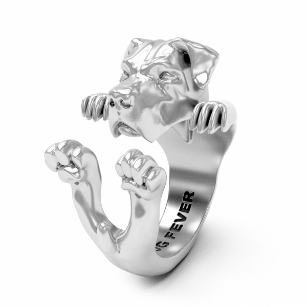 Dog Fever - Cane Corso Silver Hug Ring